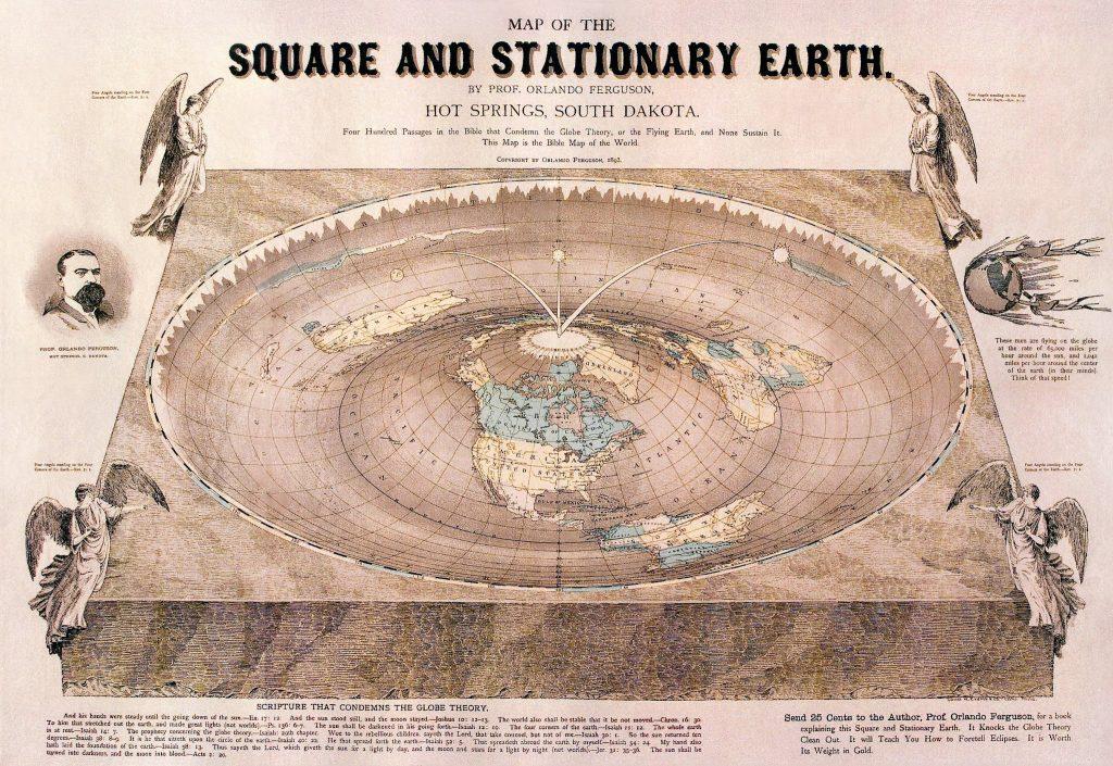 Карта плоской земли Орландо Фергюсона